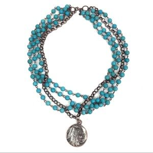 Jewelry - Handcrafted Coin Necklace Boho